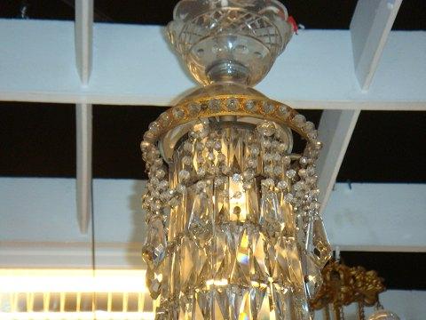 Kristall Kronleuchter 60 Cm ~ Antiknetz.de kristall kronleuchter mit 6 lysarme * höhe: 85 cm