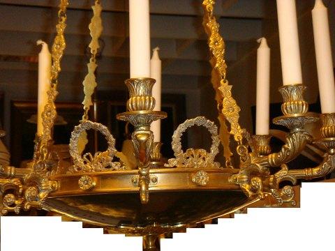 Kronleuchter Antik Kerzen ~ Antiknetz französisch kronleuchter mit kerzen in empirestil