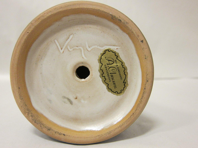 keramik signatur Antiknetz.de   Kerzenhalter * Kerzenhalter aus Keramik * Design  keramik signatur